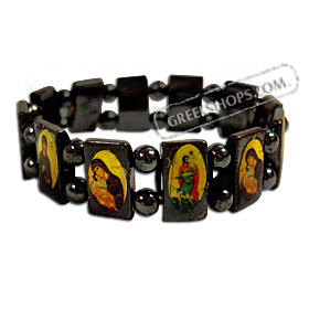 12 Saints Bracelet with Metal Beads
