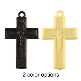 Plastic Cross Pendant (27mm)