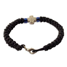 Classic Black Komboskine with Cross and Clasp