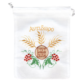 Embroidered Antidoro - Holy Bread Pouch (23cm) Design 1