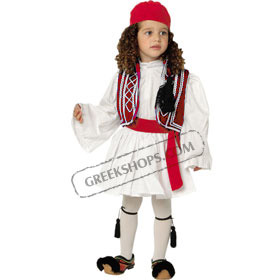 Tsolias Traditional Greek Costume for Boys Size 2-6 Style 644302