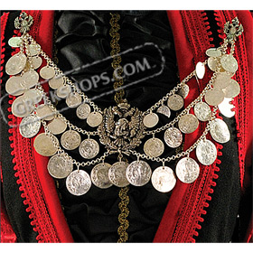 Traditional Greek Coin Necklace Style 647808