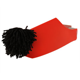 Traditional Tsarouchia Greek Costume Shoe Covers (Red)