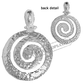 Sterling Silver Pendant - Hammered Swirl Motif (22mm)