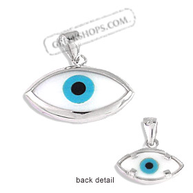 The Amphitrite Collection - Sterling Silver Pendant - Mother of Pearl Eye (22mm)