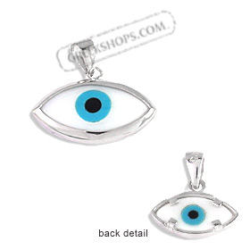 The Amphitrite Collection - Sterling Silver Pendant - Mother of Pearl Eye (16mm)