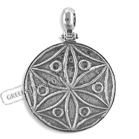 The Agamemnon Collection - Sterling Silver Pendant - Rosette Motif (32mm)