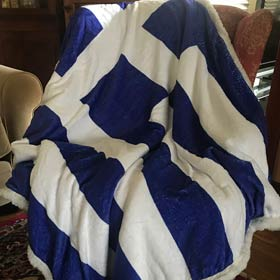 Greek Flag Blanket