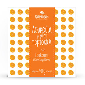 Loukoumiland Greek Delights Loukoumi, Orange flavor, 400gr