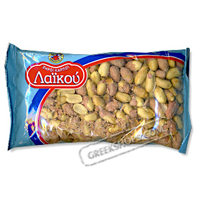 "Authentic Greek Salted & Roasted Peanuts ""Arapiko"" style 300gr."