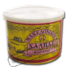 Greek Makedonikos Halvah Vanilla Flavor 500gr can
