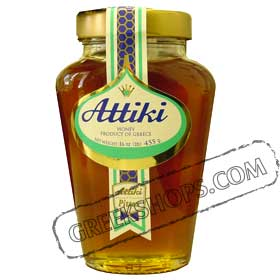 Greek Honey by Attiki 455g. Jar  (1lb.)