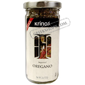Krinos Brand Imported Greek Oregano in a Glass Jar - Net Wt. 2oz