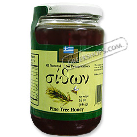 Sithon Greek Honey - Pine Tree Honey, 450 grams