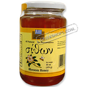 Sithon Greek Honey - Blossom Honey, 450 grams