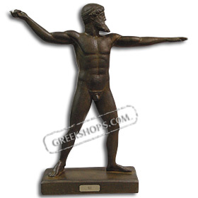 "Poseidon (or Zeus) Statue 18"" (46 cm) Bronze-colored"