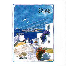 Greek Islands Tshirt 1128