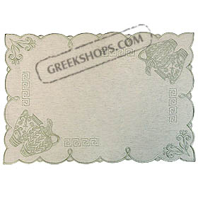 Style 822 Table Cover - Water Pitchers (Green) 19x13 in.