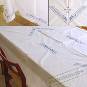 Style Santorini Tablecloth 58x84 in.