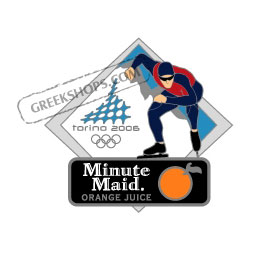 Torino 2006 Minute Maid Speed Skater Pin