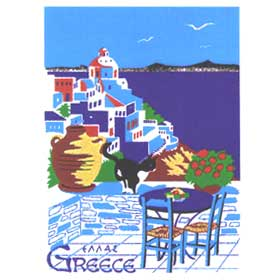 Cat of the Greek Islands Tshirt 80