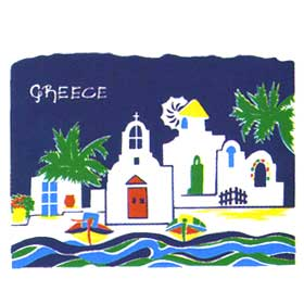 Greek Islands Tshirt 105