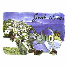 Greek Islands Tshirt 70