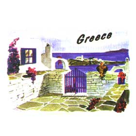 Greek Islands Tshirt 10004