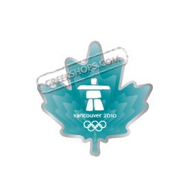 Vancouver 2010 Blue Clear Maple Leaf Pin