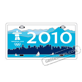 Vancouver 2010 License Plate Pin