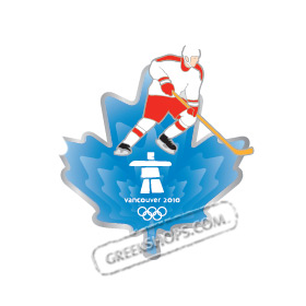 LIMITED EDITION Vancouver 2010 Clear Aqua Leaf - Hockey Pin