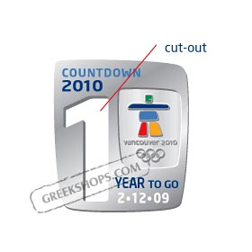 Vancouver 2010 LIMITED EDITION One Year To Go Countdown Cut-out Pin