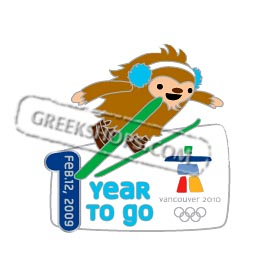 Vancouver 2010 LIMITED EDITION One Year To Go Countdown Quatchi Pin