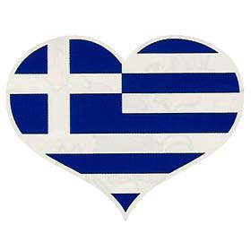 Heart Shaped GREECE Flag Children's Tshirt 1247c