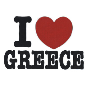 I Love Greece Sweatshirt Style D649