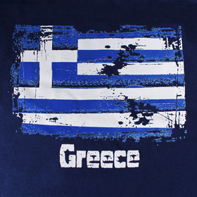 Greece & Greek Flag Hooded Sweatshirt Style D276