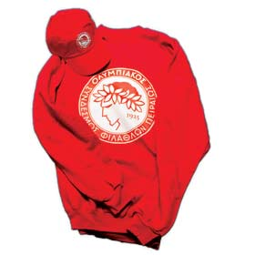 Olympiakos Piraeus Sweatshirt & Cap Fan Gift Package