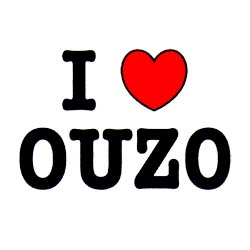 I Love Ouzo Sweatshirt 3807