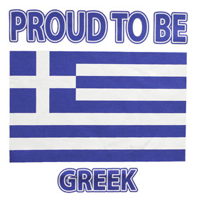 Proud to be Greek Tshirt Style