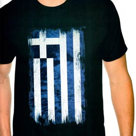 Greek Flag Navy Blue Tshirt Style D623