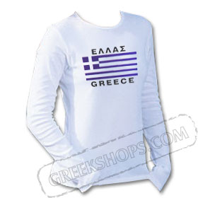 Greek Flag Longsleeve Shirt Style D550b