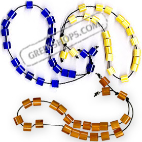 Worrybeads KN47 Dark Blue, Yellow or Orange