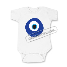 Infant Greek Mati Evil Eye Onesie / Romper