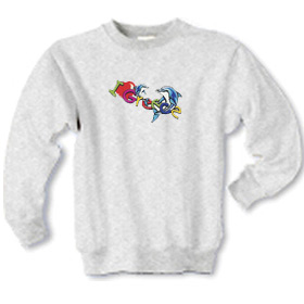 I Love Greece with Dolphins Children's Sweatshirt 1288b