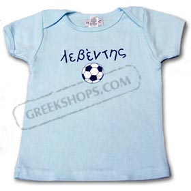 Baby's Blue Leventis (strong and brave) Soccer Ball T-Shirt
