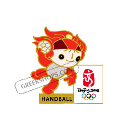 Beijing 2008 Huanhuan Handball Olympic Sports Pin