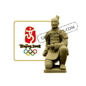 Pins : Beijing 2008 Sculpted Terra Cotta Kneeling Warrior Olympic Pin