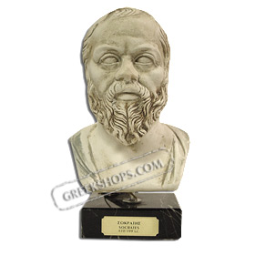 "Socrates Bust 8"" (20 cm) Ivory Color (Clearance 40% off)"