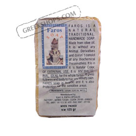 Faros Natural Traditional Greek Olive Oil Soap 125g