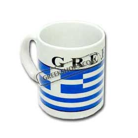 Greek Flag Coffee Mug
